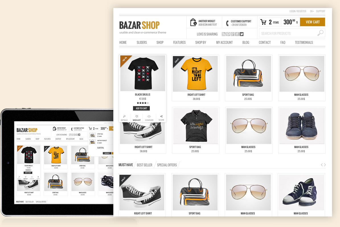 Bazar theme